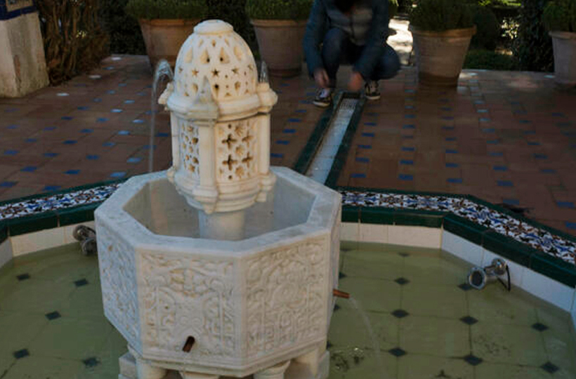 Recuperan la fuente de los jardines de la Casa del Rey Moro de Ronda creados por Fosterier