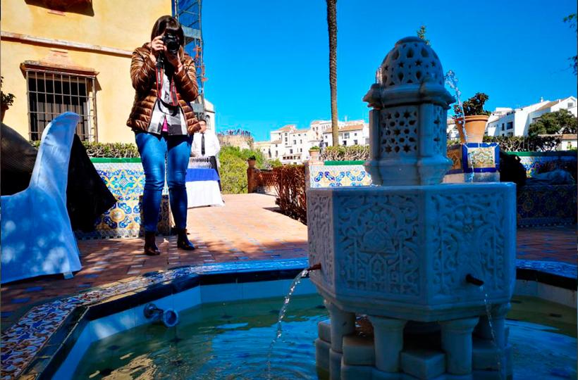 La 'Fuente del Paraíso' regresa al Jardín de la Casa del Rey Moro